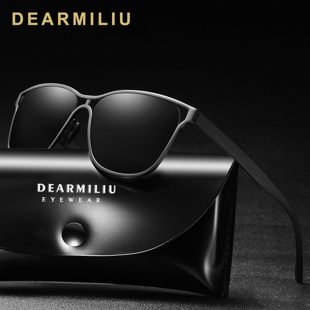 DEARMILIU Design Retro Vintage Men's Cat eye Polarized Sunglasses Driving Sun Glasses Male Eyewear Accessories For Men/Women