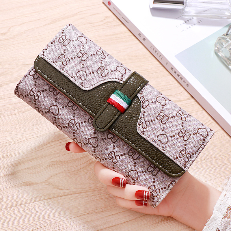 Wallet women 39 s long 2019 new fashion small fresh ladies large capacity multifunctional wallet tide in Wallets from Luggage amp Bags