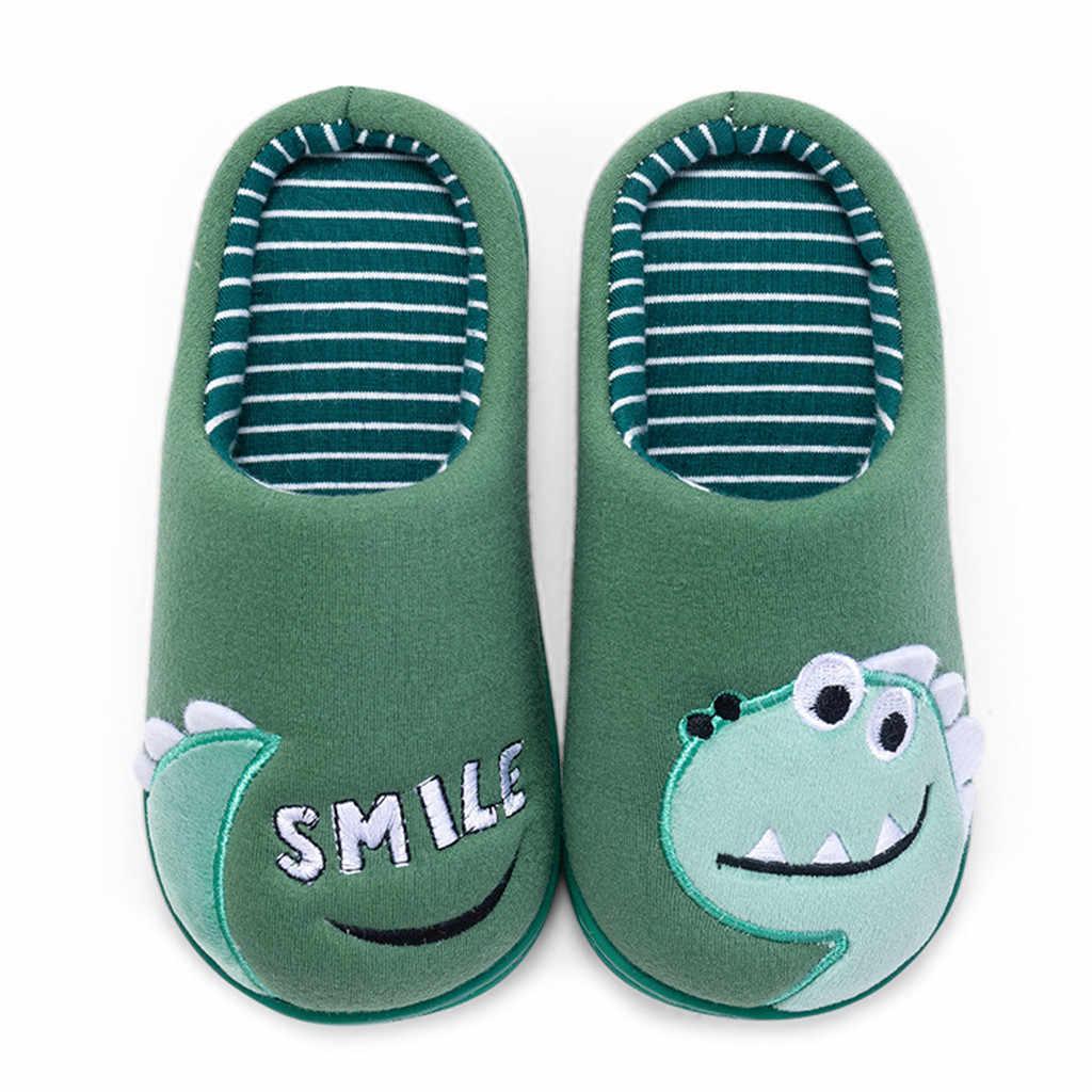 Çocuk pamuklu ayakkabılar çocuklar ev terlik erkek ve kız bebek sevimli karikatür sıcak ayakkabı erkek kız kalınlaşma çocuk terlik