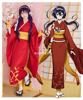 New Bungo Stray Dogs Kyoka Izumi Cosplay Costume Yukata Kimono Uniform Outfit Halloween Party Costumes for Women Anime Costume 1