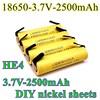 2021 nouveau Original HE4 18650 Rechargeable li-lon batterie 3.7V 2500mAh batterie 20A décharge + bricolage Nickel feuille