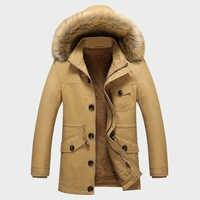 Kış erkek Kalın Palto Sıcak Erkek Ceketler Yastıklı Rahat Kapşonlu Termal Parka Yeni Erkek Paltolar Erkek Marka Giyim M 5XL ML071