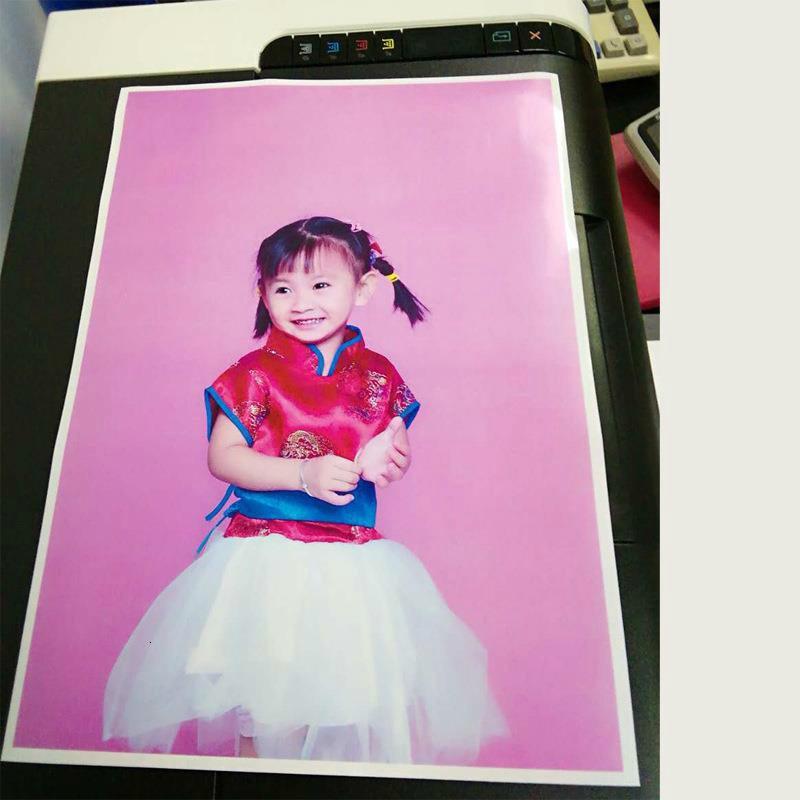 Купить с кэшбэком 200 Sheets Glossy 90G 115G 135G 160G A4 A3 printing 4x6 dry Photo Paper For magnetic photographic Inkjet Printer Paper Supplies