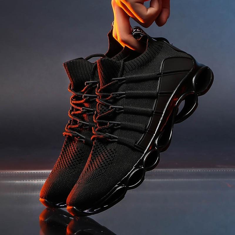 Hc42d58e4a82c46f4b3a8a59c065ce137i New Fishbone Blade Shoes Fashion Sneaker Shoes for Men Plus Size 46 Comfortable Sports Men's Red Shoes Jogging Casual Shoes 48