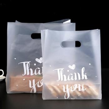 Dziękuję plastikowe torby na prezenty plastikowe torby na zakupy torby detaliczne torba Party Favor 50 sztuk partia tanie i dobre opinie GPWD 50pcs Z tworzywa sztucznego List B-77 Ślub i Zaręczyny Birthday party Walentynki Zhejiang China (Mainland)