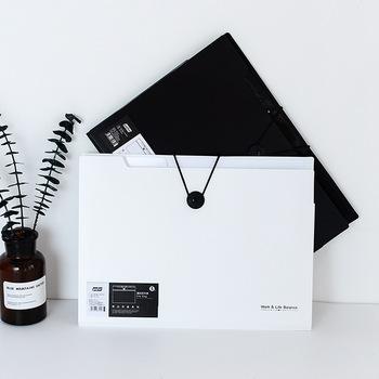 Folder A4 na dokumenty organizery biurowe 5 12 kieszenie torba na dokumenty folder Fashinable biały i czarny kolor papeterii tanie i dobre opinie CN (pochodzenie) Rozszerzenie portfel 32 5*24 5cm A084 White Black 5 pockets 12 pockets 145g-230g Office