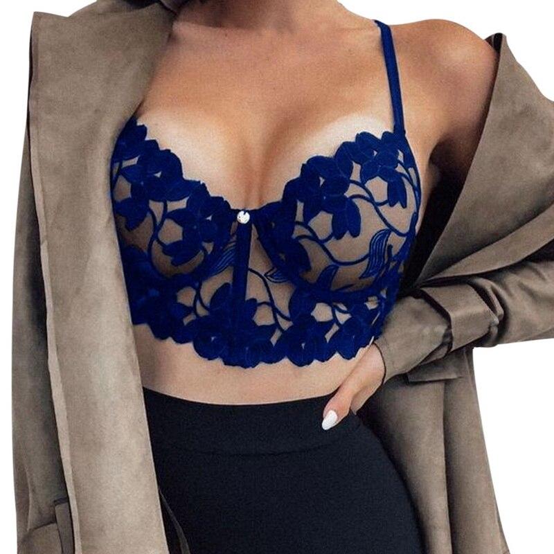 Plus Size 3XL Bralette Seamless Deep V Lace Bra Wireless Thin Underwear Sexy Lingerie Soft Push Up Bras For Women Girls Crop Top