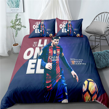 33D printed bedding set football star adult bed cover single duvet bed cover boy character bedding set large print quilt cover cactus print bedding set
