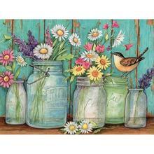 Full 5D DIY Diamond Mosaic Rhinestone Flowers & SparrowKits Art Embroidery Home Decor Craft Art art blakey art blakey the jazz messengers mosaic