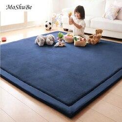 200 см, игровой коврик, противоскользящий Домашний Детский ковер, одеяло, игровой коврик, детский однотонный коврик, 2 см, толстый мягкий пол, к...