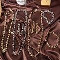 HUANZHI 2020 Новый Мода Панк Металлический геометрической формы U образная цепь ожерелья с пряжкой колье Браслеты для женщин и мужчин ювелирные и...