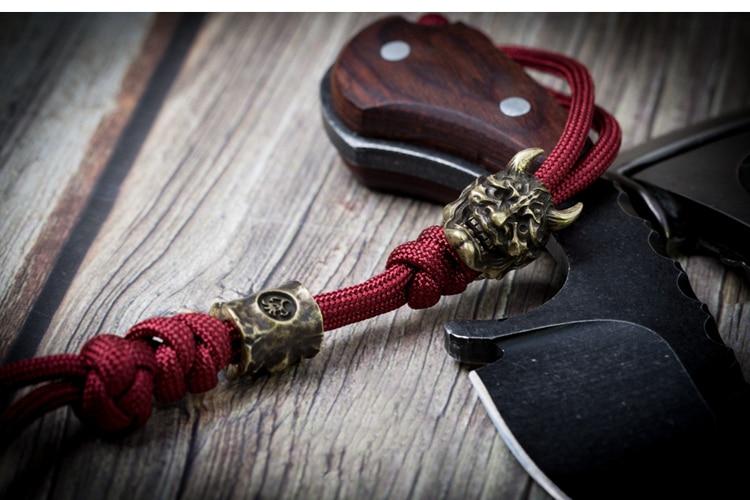 Prajna artesanal pingente chave paracord contas pingente