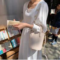 Kobiety lato długa sukienka kwadratowy kołnierz latarnia rękaw Vestidos z przyciski biały dorywczo szata Femme Sukienki Streetwear Jurken
