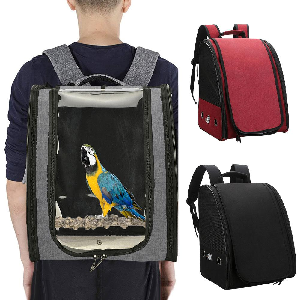 Pet Parrot Backpack Carrying Cage Cat Dog Outdoor Travel Breathable Carrier Bird Canary Waterproof Transport Bag Birds Supplies
