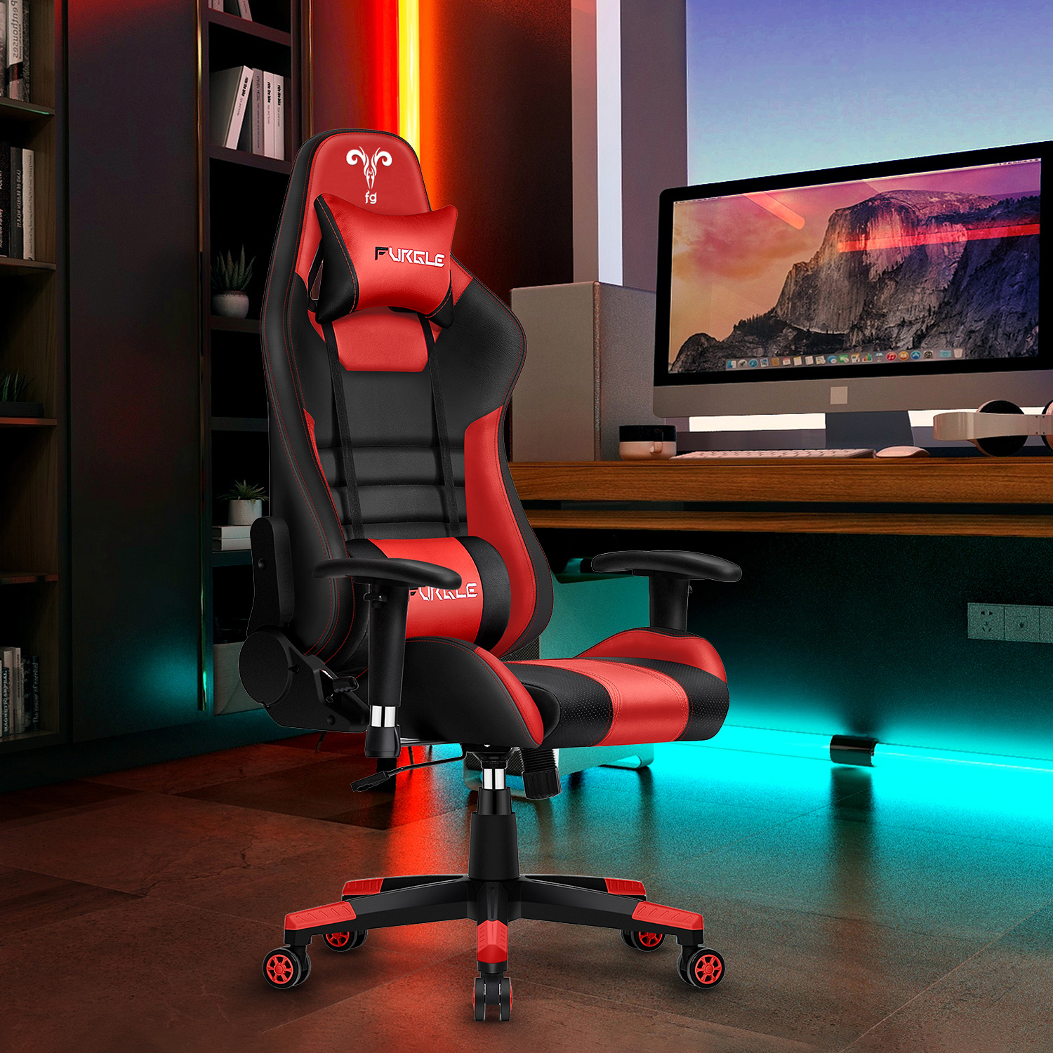 Купить с кэшбэком Furgle WCG game computer chair high quality adjustable office chair leather gaming chair black for home office game competitive