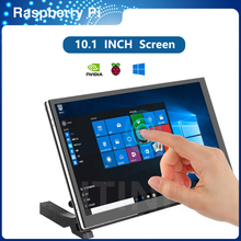 ITINIT K9 10.1 inch Raspberry Pi 4 Model B Touch Screen IPS Capacitive LCD 1024x600 Display with Speacker Holder Monitor