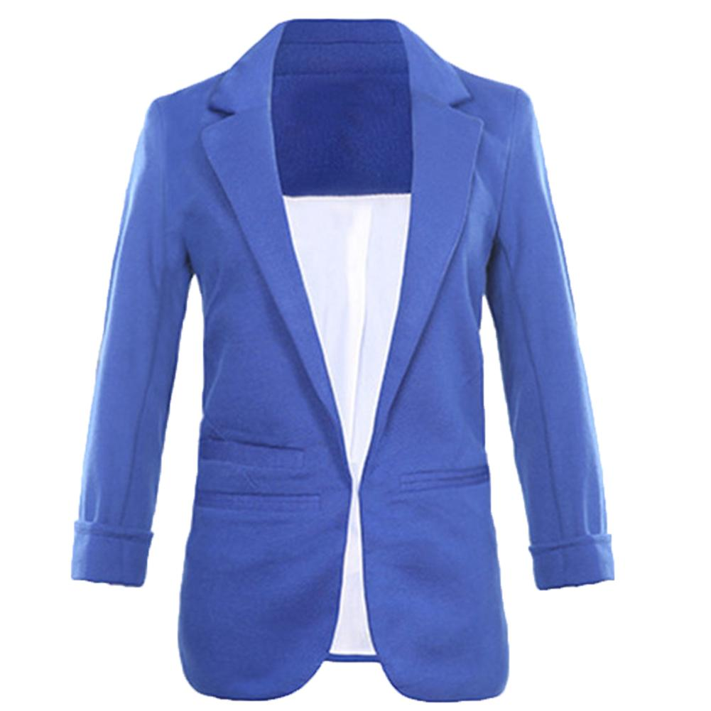 Women Basic Blazer Notched Collar Solid Beading Pearl Candy Colors For Office Female Retro Casual Outwear Chic Lady Solid Color