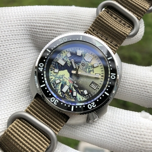 STEELDIVE1970J luminous men all automatic mechanical watch kanagawa abalone diving watches 200 m surfing the Caspian sea pattern