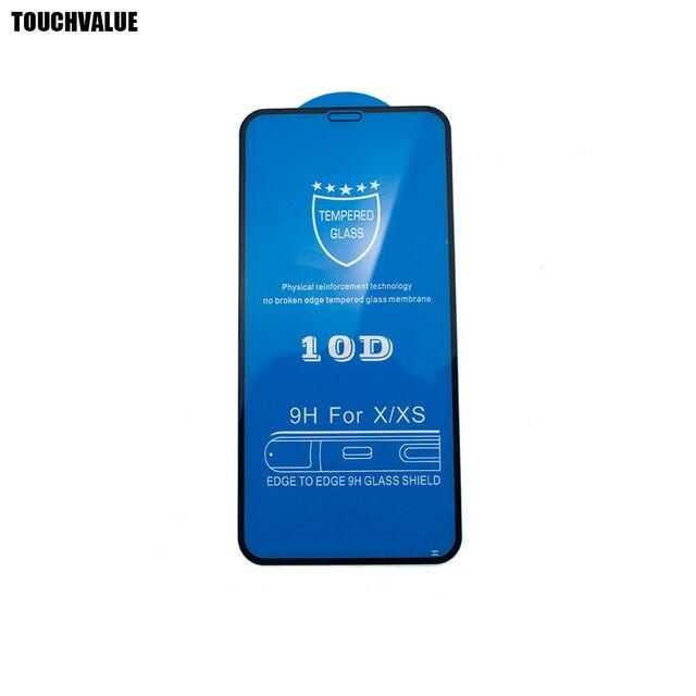 100 قطعة/الوحدة آيفون X 10D الزجاج حماة الشاشة آيفون 6 6S 6P 6SP 7 8 7P 8P XR XS ماكس الزجاج المقسى فيلم 9H