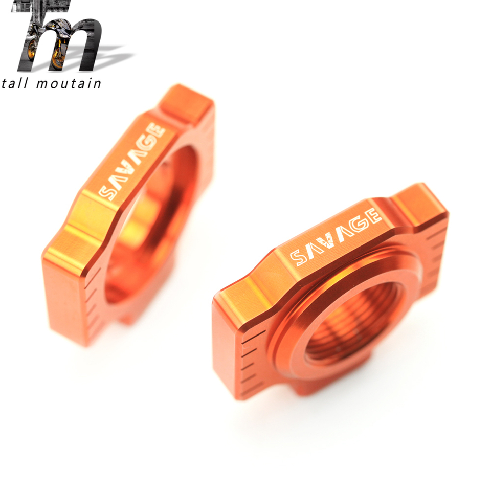 Chain Adjuster Regulator Sliders For KTM XC-W XCF-W EXCF EXC 525 520 500 450 400 350 380 300 250 200 125 Motorcycle Accessories