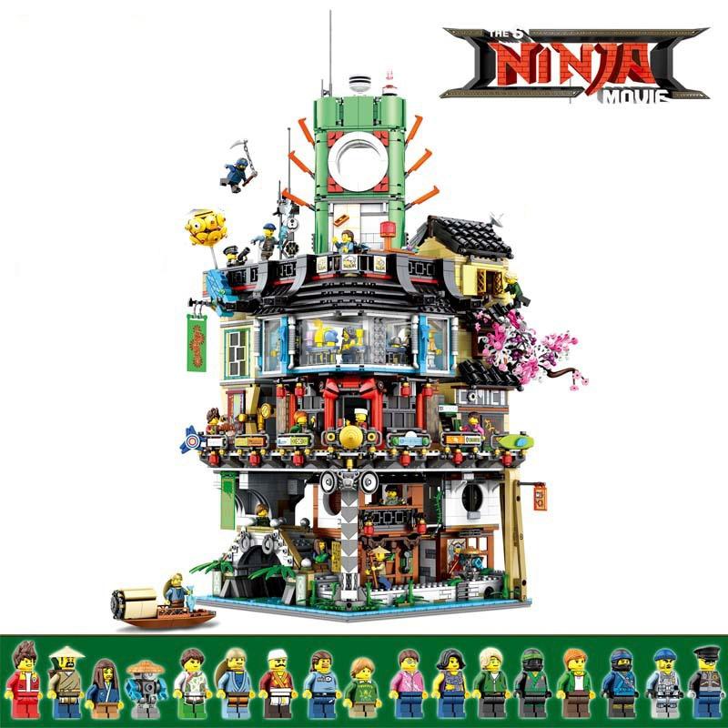 Ninjago City Masters Of Spinjitzu Building Blocks Bricks Model Modular Compatible LegoingLYs 70620 Kids Birthday Christmas Toys