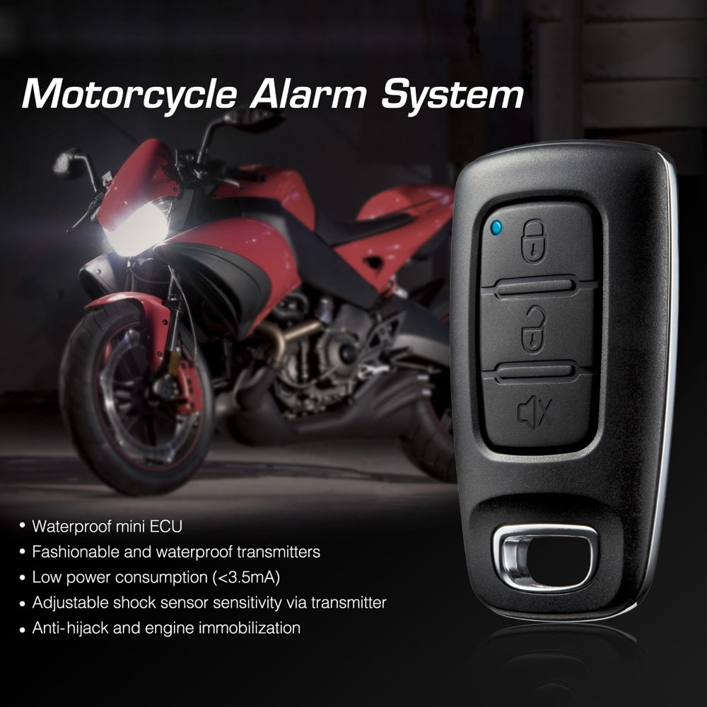 Steelmate 886E Motorcycle Alarm System Water Resistant ECU Motorcycle Engine Immobilization With Transmitter For Motorcycle