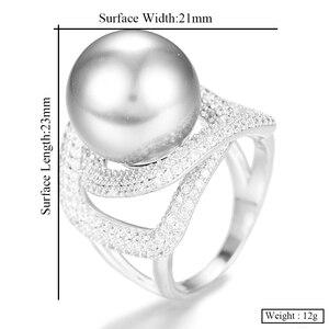 Image 5 - Godki 2020 トレンディなツイストパール声明リング女性立方ジルコン指輪ビーズチャームリングボヘミアンビーチジュエリー 2019