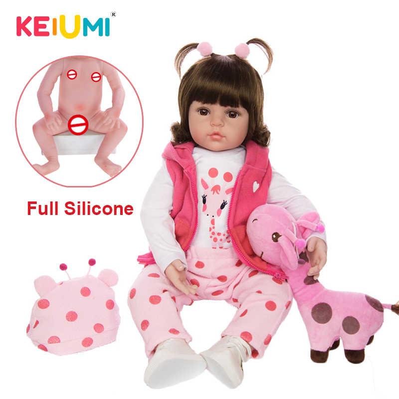 KEIUMI, оптовая продажа, Reborn Menina Menino, полностью силиконовые виниловые куклы для новорожденных, подарки на день рождения, модные банные детские игрушки