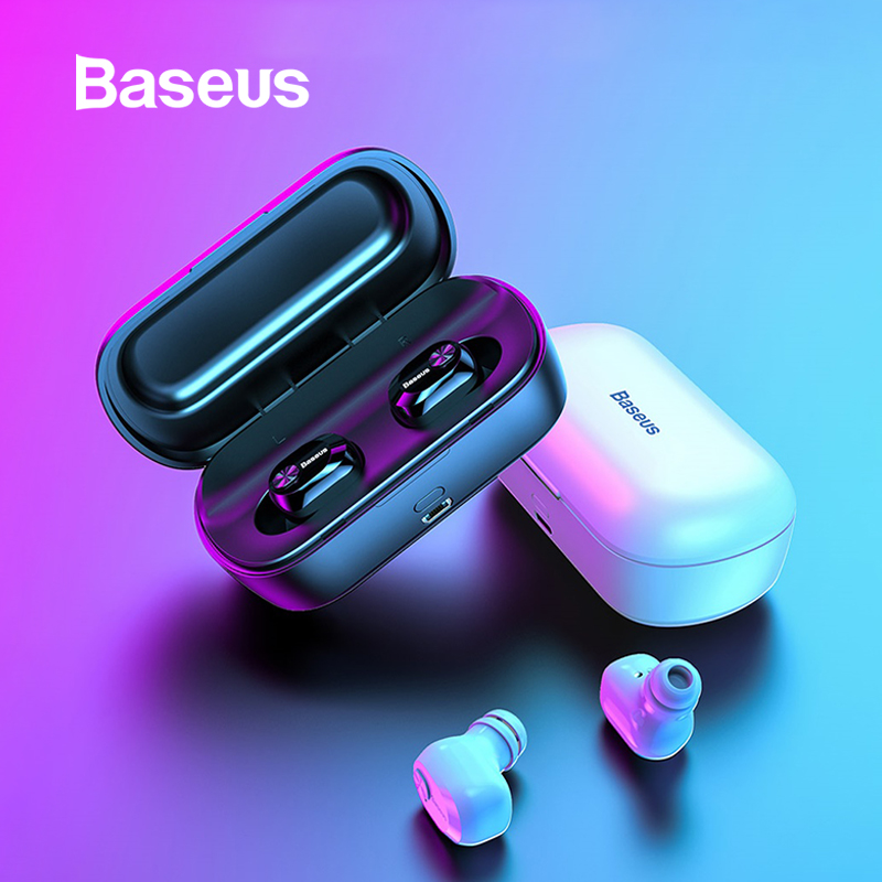 Baseus W01 TWS Bluetooth Earphone Wireless Headphone Bluetooth 5.0 Stereo Bass Wireless Earphones With HD Microphone For Phone