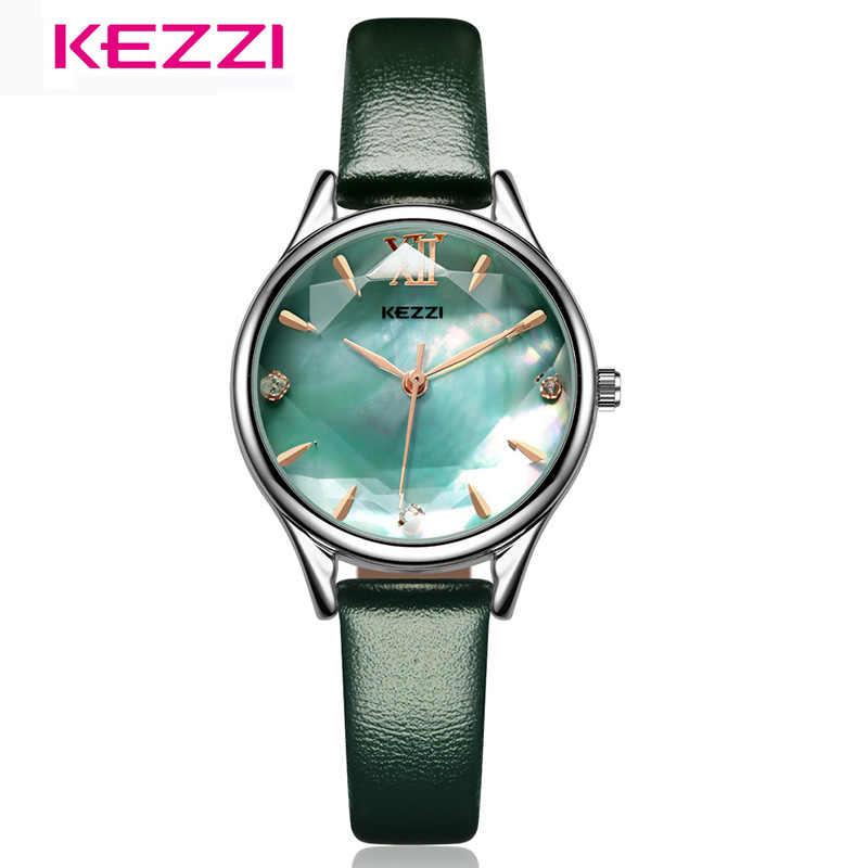 KEZZI 女性の腕時計のファッションを見てエレガントな防水レザー腕時計女性ドレスウォッチレロジオ Feminino