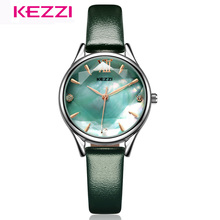 KEZZI Women Wristwatch Fashion Quartz Watch Simple Elegant Waterproof Leather Watches women Dress Watch Relogio Feminino gnova platinum fashion rainbow strap bracelet women watch ethnic wooden beads fashion dress wristwatch quartz relogio a890