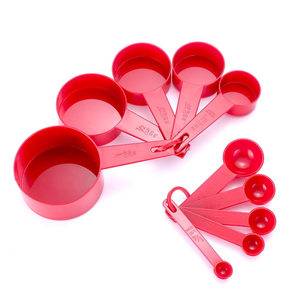 ôHot DealsScoop Measuring-Cups Silicone-Handle 6-Color 10pcs Pp