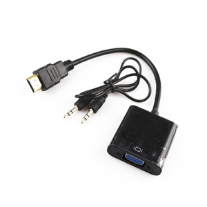 HDMI to VGA Adapter Digital to Analog Video Audio Converter Cable HDMI 2 VGA Connector For Xbox 360 For PS4 PC Laptop TV Box(China)
