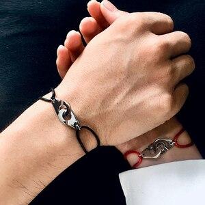 J.hangke femme homm Lovers eacier inoxydable Браслеты Бижу известный бренд ювелирные изделия 925 серебро золото браслет на запястье