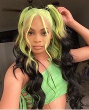 Preferred Transparent Lace Wigs Blue Blonde To Black Pink Ombre Human Hair Wig Remy Brazilian Lace Front Wigs For Black Women