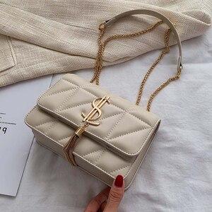 Image 2 - 2020 יוקרה מפורסם מותג נשים שקיות מעצב ליידי קלאסי משובץ כתף Crossbody תיקי עור נשים שליח תיקי