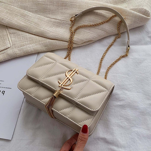 Image 2 - 2020 Luxury Famous Brand Women Bags Designer Lady Classic Plaid Shoulder Crossbody Bags Leather Women Messenger Handbags