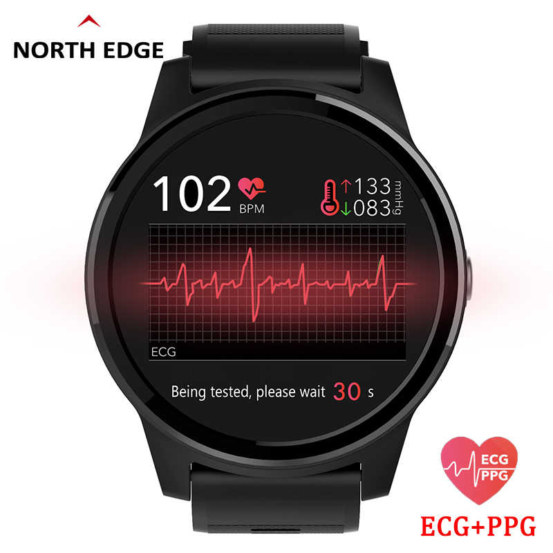 North Edge Blood Pressure Smart Watch Wrist Band ECG PPG Heart Rate Monitor Smart Sport Watch Activit Fitness Tracker Wristband
