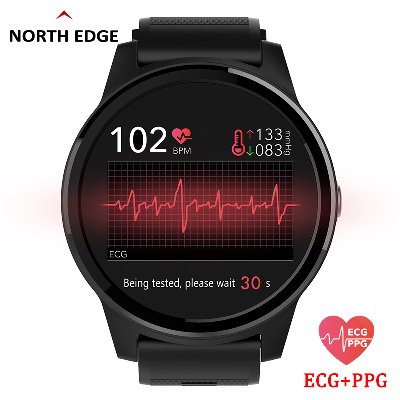 Banda de Pulso Monitor de Freqüência Relógio de Fitness Borda Norte Pressão Arterial Relógio Inteligente Ecg Ppg Cardíaca Esporte Activin Rastreador Pulseira