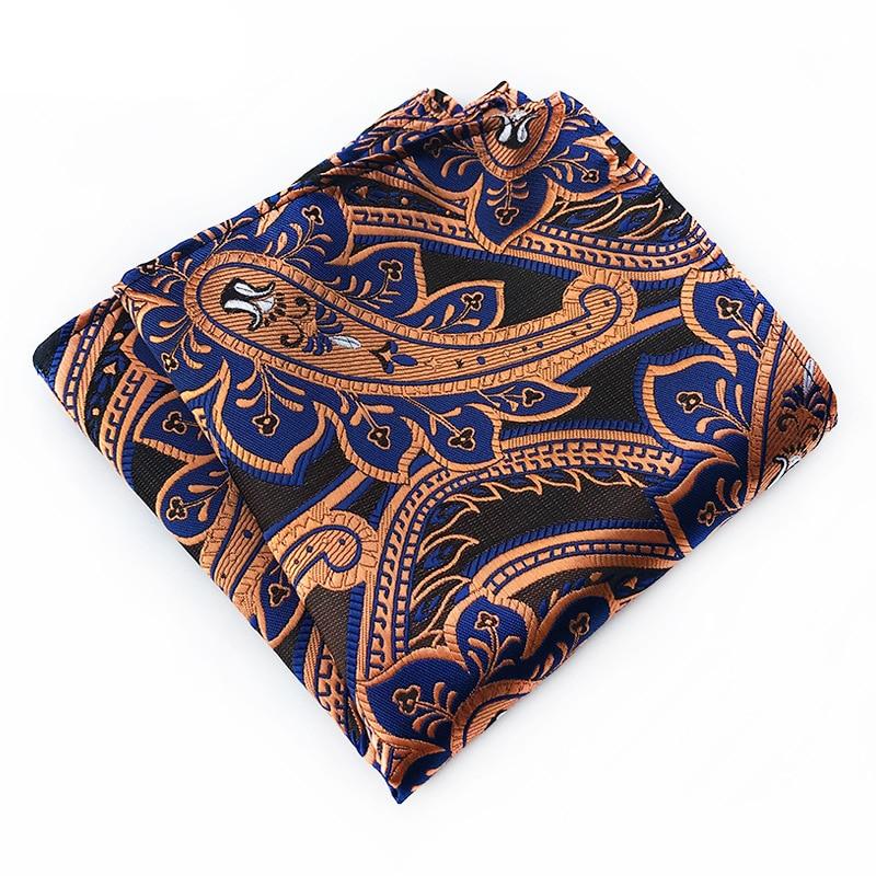 New Men's Wedding Pocket Square Polyester Silk Tie Handkerchiefs Fashion Necktie Mens Ties Red Pocket Towel Gift For Men
