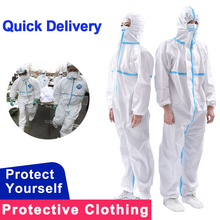 One time Use Protective Clothing Disposable Anti Static Fog Dust-proof Protection Coverall Personal Protective Isolation suit