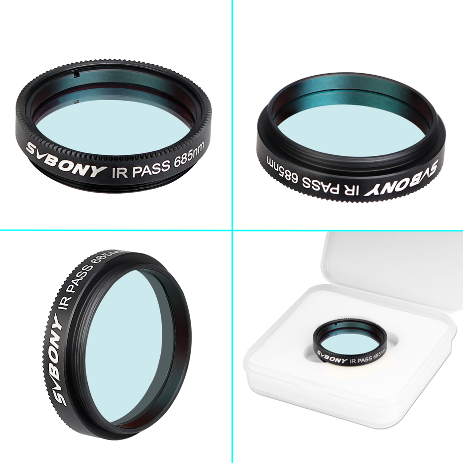 2 Inch 685nm Reduce the Effects of Seeing for Planetary Photography Contrast Enhancement SVBONY SV183 Telescope Filter IR Pass Filter