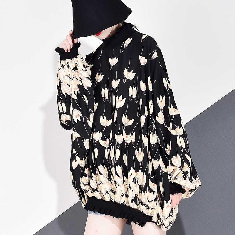 XITAO mousseline de soie imprimé motif Blouse mode nouvelles femmes 2020 printemps à manches longues pull élégant minorité décontracté GCC3233