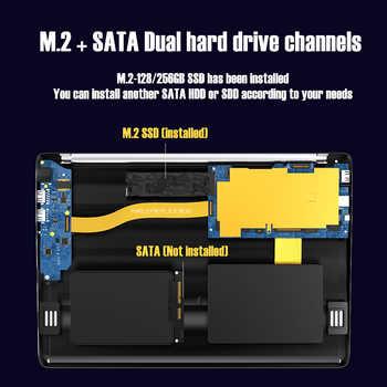 KUU KBooK Pro 14.1 inch Intel N3450 8GB DDR4 RAM 256GB SSD Notebook IPS Laptop Full Layout Keyboard additional Sata 2.5 port