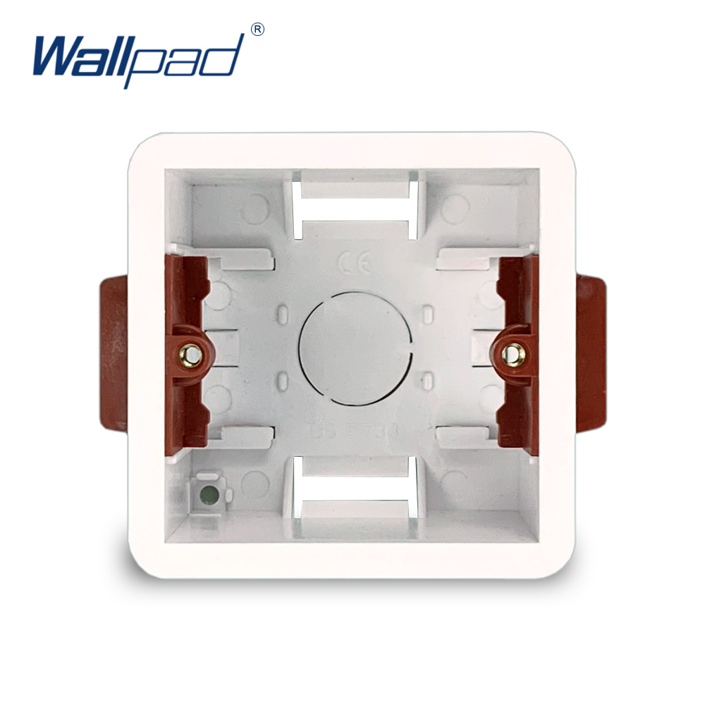 1 Gang Dry Lining Box For Gypsum Board Drywall Plasterboad 47mm Depth Wall Switch 86 Type BOX Wall Socket Cassette