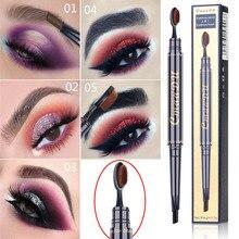 CmaaDu Double Eyebrow Pen with Brush Toothbrush Head Eyebrow Pencil Multifunctional Waterproof Long Lasting Makeup+DHL