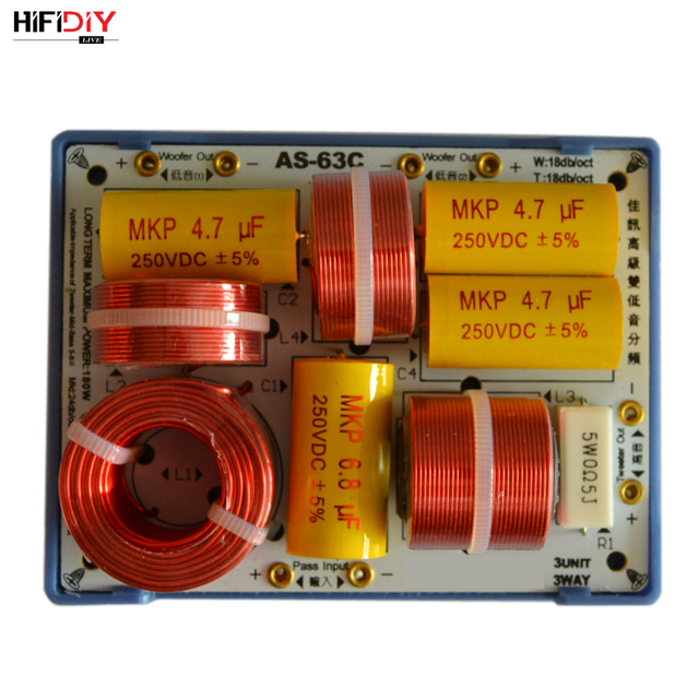 HIFIDIY LIVE AS 63C 2.5/3 Way 3 głośnik (głośnik wysokotonowy + średni bas + bas) głośniki hi fi audio dzielnik częstotliwości filtry crossover