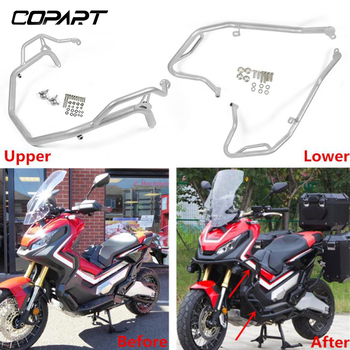 For HONDA X-ADV XADV 750 2017 2018 2019 Motorcycle Engine Guard Bumpers Crash Bars Stunt Cage Frame Protector Silver