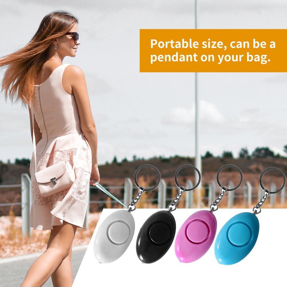 Мини-брелок в форме яйца для женщин, персональная охранная сигнализация, защита от нападения, Аварийная сигнализация, для детей, для школы