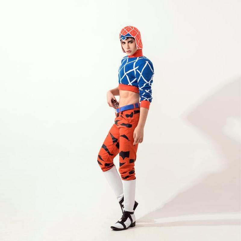 Japon Anime JoJo Bizarre aventure Cosplay Costumes Guido Mista chandail mode Sexy laine tricots hauts manteau